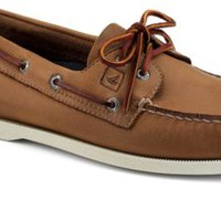 Sperry Top-Sider Authentic Original Burnished Leather 2-Eye Boat Shoe TanBurnishedLeather, Size 8M  Men's Shoes