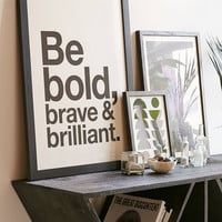AngelStar Forever Be Bold, Brave & Brilliant Art Print | Urban Outfitters