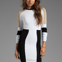 Torn by Ronny Kobo Maddie Dress in Neutral Combo from REVOLVEclothing.com