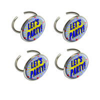 Let's Party A Celebration Napkin Ring Set