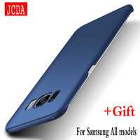 JCDA Brand For Samsung Galaxy S8 s6 s7 edge plus S4 S5 NOTE 3 4 5 C5 C7 9 Mobile phone case Silicone cover Hard Frosted PC Back