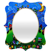 Renie Britenbucher Reading Is Magical Quatrefoil Mirror