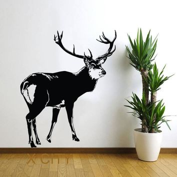 Deer North Tundra Animal Wall Art Vinyl Sticker Decal Nursery Decor Living Room Home Interior Mural Stencil