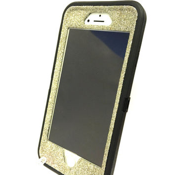 OtterBox Defender Series Case iPhone 6 (4.7 inch) Glitter Cute Sparkly Bling Defender Series Custom Case white gold/black