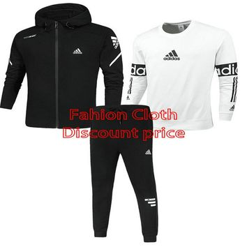 Adidas Three-Piece Suit 2018 Spring New Style Clothes L--4X Z-1801 Black White