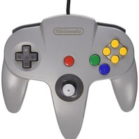 "Nintendo 64 Controller Official Nintendo Brand Authentic Refurbished - Grey ""C"""