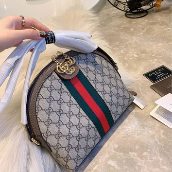 Gucci Soho Leather Shoulder Bag  Bright Bouganvillia Leather Handbag