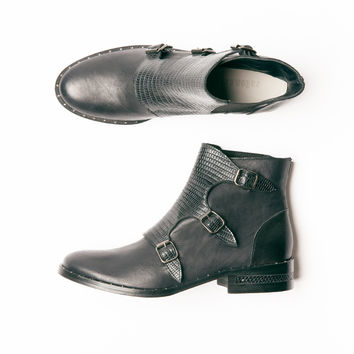 Rose Monk Strap Ankle Boot