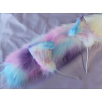 Pastel Galaxy Realistic Kitten Ears (Airbrushed) - Kitten's Playpen