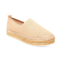 STEVE MADDEN CHOPPUR PERFORATED ESPADRILLE NATURAL 9.5M