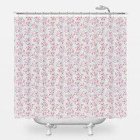 Pink Leaves II Shower Curtain