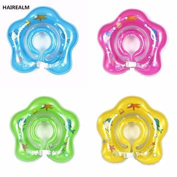 Baby Swimming Pool & Accessories baby Tube Ring Safety Infant Neck Float Circle For Bathing Inflatable 0-3years Swim Neck Ring
