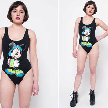 80s Disney Mickey Mouse Swimsuit