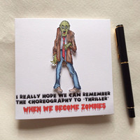 Zombie Card, Funny Zombie Card, Special Occasion Card, Birthday Card