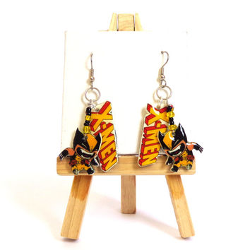 Wolverine dangle earrings! These Marvel X-men earrings are perfect for every Comic Book lover.