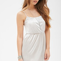 Micro-Pleated Cami Dress