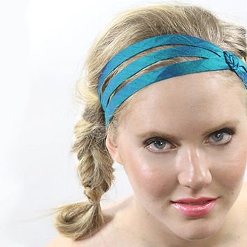 Teal headband, womens headband, head wrap, hairband