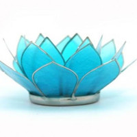 Capiz Lotus Tea Light Holder