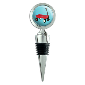 Little Red Wagon Wine Bottle Stopper