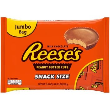 REESE'S Snack Size Peanut Butter Cups, 19.5 oz - Walmart.com