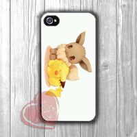 Pokemon Pikachu and Eevee cute -dta for iPhone 4/4S/5/5S/5C/6/ 6+,samsung S3/S4/S5,samsung note 3/4
