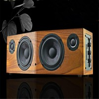 50w music fans multi-function hifi desktop wooden speaker remote control FM support repeat  for 1 or fold song bluetooth nfc