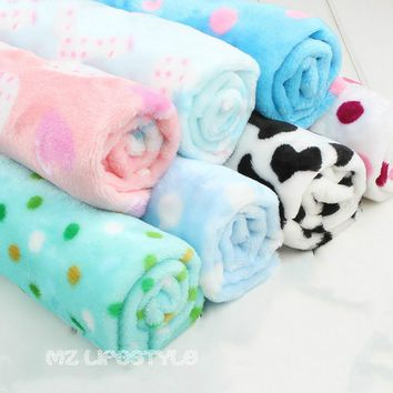Buulqo New arrival 50*160cm Flannel  garment blankets baby bedclothes sheets fabric Double sided plush cloth