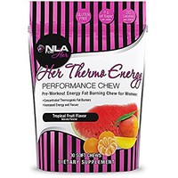 NLA for Her - Her Thermo Energy Performance Chew - Pre-Workout Energy + Fat Burning - Thermogenic Fat Burner, Supports Increased Energy and Focus - Tropical Fruit - 30 Soft Chews