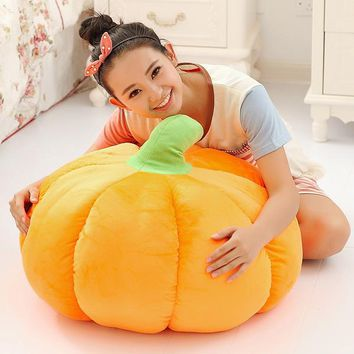 30x30cm Creative 3D Squishy Halloween Pumpkin Cushion Plush Cartoon Throw Pillow Office Decor Gift