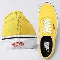Vans Authentic Skate Shoes Lemon Chrome Black (4.5)