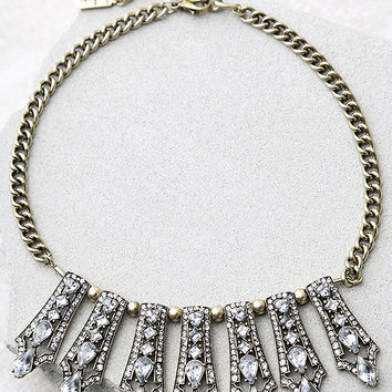 Take a Chance Gold Rhinestone Choker Necklace