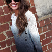 Distressed Out Ombre Sweater | The Rage