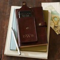 Saddle Leather Journal with Pocket