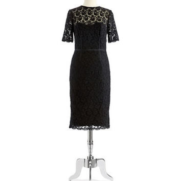 Jill Jill Stuart Illusion Lace Dress
