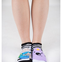 Adventure Time Mix and Match Stripe No Show Socks