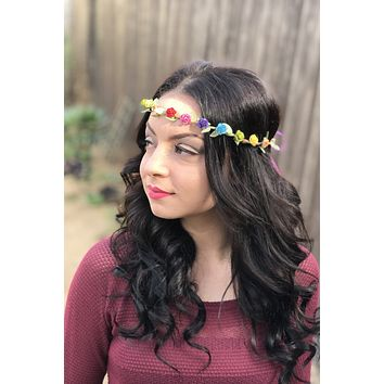 Rainbow Rose Crown #D1042