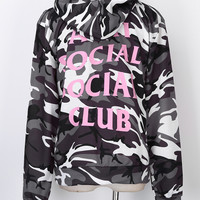 new Fashion  man Social Club Hoodie Anti Social Social Club Hooded Camouflage Sweatshirts