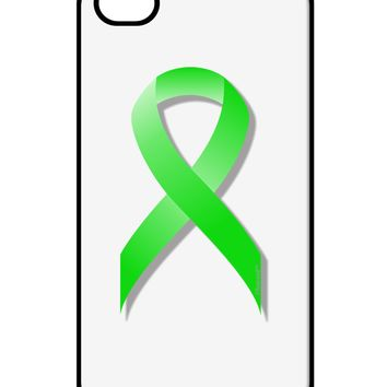 Lyme Disease Awareness Ribbon - Lime Green iPhone 4 / 4S Case  by TooLoud