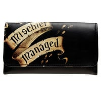 Harry Potter Marauder's Map Mischief Managed Flap Wallet  DFT-1861