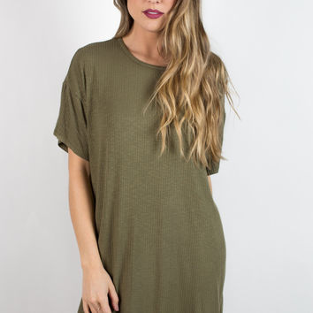 Lazy Sunday Ribbed Tunic Top