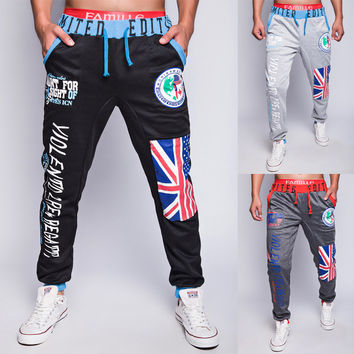 Gym Pants Alphabet Print Casual Sportswear [6544568643]