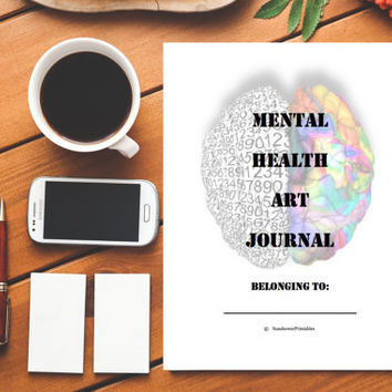 Art Journal 26 pg. Instant Download & Printable 8.5X11 PDF therapy workbook