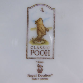 Winnie The Pooh Plate Royal Doulton Christopher Robin Piglet
