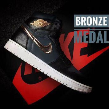 Air Jordan 1 High Aj1 Bronze Medal Men's Sneaker Us7 12