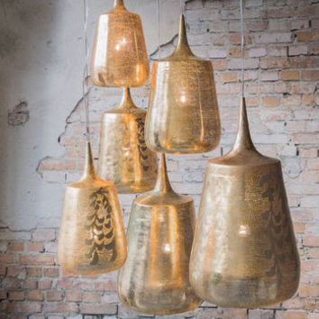 Brass Trophy Pendant Light