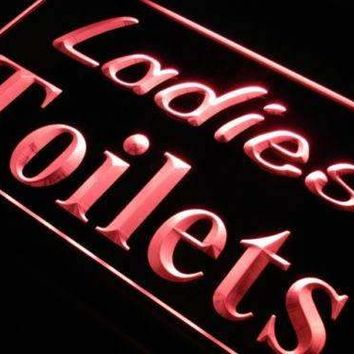 Ladies Toilets Restrooms Neon Sign (LED)