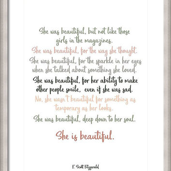 She Was Beautiful By F. Scott Fitzgerald 3 #minimalism #poem by Andrea Anderegg Photography