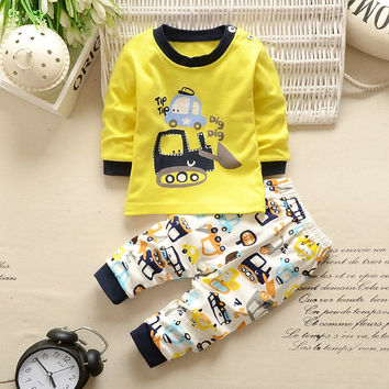 Unisex Cotton Long Sleeve+Pant clothes set