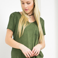 Dear John Relaxed Pocket Tee | Olive
