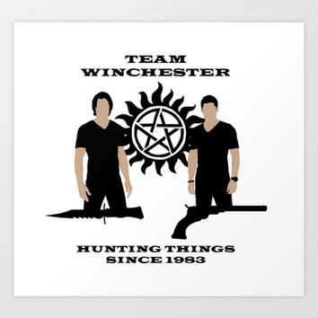 Supernatural Hunters Art Print by ddjvigo